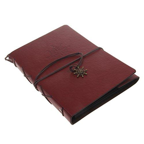 Weinlese PU Leder Fotoalbum Protokoll Buch DIY Scrapbook Speicher Geschenk 21 X 27cm (Scrapbook-speicher)