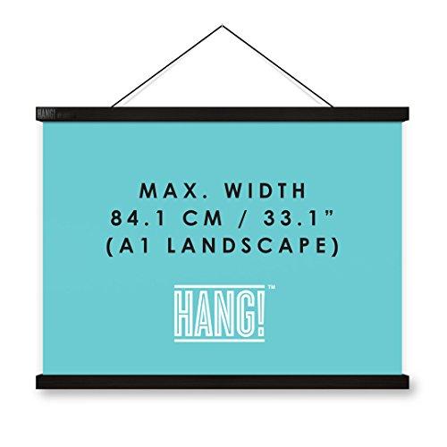 Posteraufhänger, entwickelt für Glückskarten, magnetische Posterrahmen-Alternative, HANG! (Landkarte Wand Magnetische)