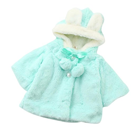 Kobay Baby-Winter-warme Mantel-Mantel-Jacke-starke warme Kleidung (70 / 9Monat, Blau)