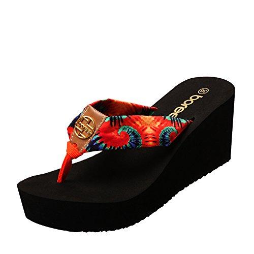 Pendio della spiaggia di estate con la resistenza di parola/Elegante esterno indossa suole spesse pantofole B