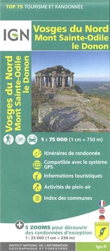 Vosges du Nord / Mont St Odile / Le Donon ign 1/75  :IGN.75027 (Ign Map)