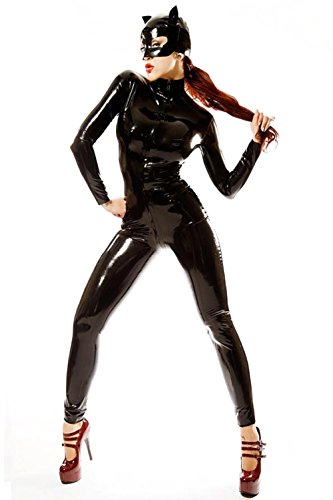 (YX Supper Sexy Catwoman Kostüm Cat Woman Damen Catwoman Kostüm Katze Cosplay Jumpsuit für Fasching Halloween Karneval Cosplay)