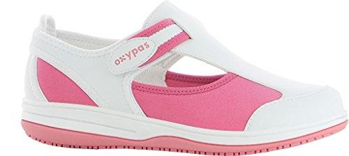 Oxypas Médica Zapato Antiestático Src Blanco Rosa Lycra Y qUpdUx5