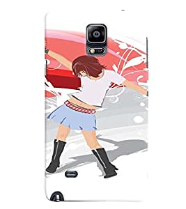 Fuson Premium Rocking Girl Printed Hard Plastic Back Case Cover for Samsung Galaxy Note 4 N9100