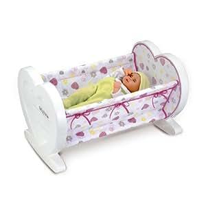 SMOBY - 24387 - Accessoire Poupées  - Baby Nurse - Lit coeur