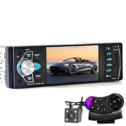 ZHY Auto-Kamera-Video-Player, Rückfahrkamera unterstützt Bluetooth AM/FM-Radio-Funktion 1080P Touchscreen mit Handy-Schnellladung Video Auto Iris