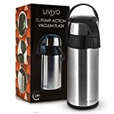 Best Coffee Airpots - Stainless Steel Pump Action Vacuum Air Pot Flask Review