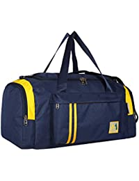 M Medler Apricate Nylon 55cms Cabin Size Blue Travel Duffle Bag- Navy Blue