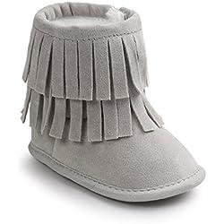 Butterme Scarpe da ginnastica infantile del neonato di unisex Scarpe da tennis della peluche della peluche Prewalker antiscivolo Stivali da neve caldi esterni 12-18Months