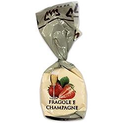 Pralina fragola e champagne - Confezione da 10 cioccolatini artigianali piemontesi - 200 g