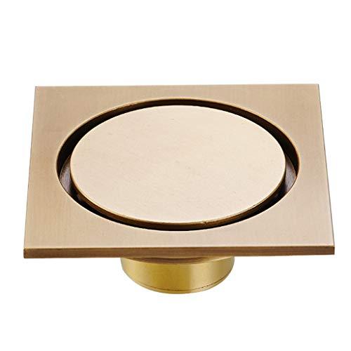 fallrohr abdichten LXDXKA Unsichtbarer Fußboden-Abfluss-Kupferdeodorant-Edelstahl-Filter-Maschen-Badezimmer-Duschküchen-Hof-europäischer Retro- Boden-Abfluss (Farbe : B)
