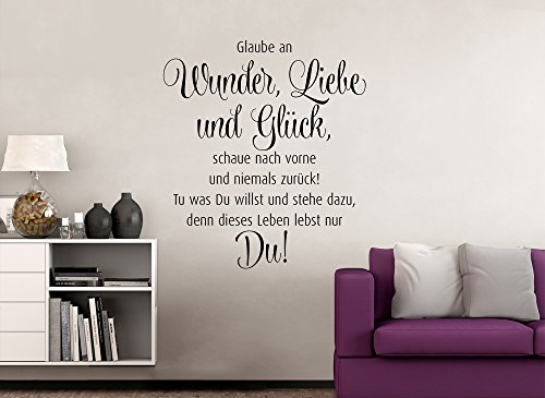 Grandora W995 Wandtattoo Spruch Wunder Liebe und Glück…