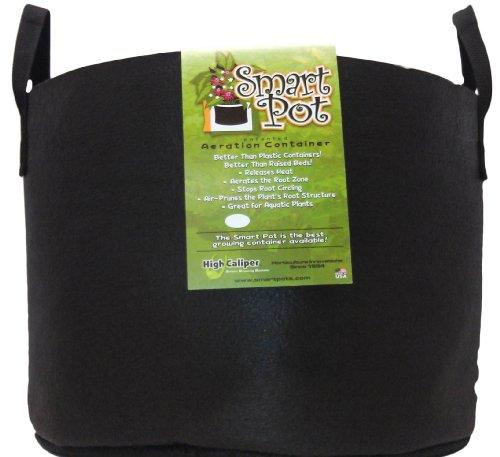 Smart Pots 15-Gallon Soft-Sided Container 20 Gallon Noir