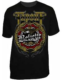 """TapOut Shirt """"Noble"""", Fight T-Shirt schwarz mit Motiv, S, M, L, XL"""