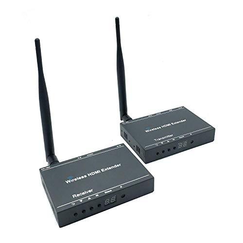 Ai LIFE 2X2 Wireless HDMI Extender Getriebe 50m Unterstützt HD 1080P und IR-Steuerung mit 2,4 G und 5,8 G Funkfrequenzbändern für DVD, PS3, PS4, Roku, Laptop (Ps3-ir-steuerung)