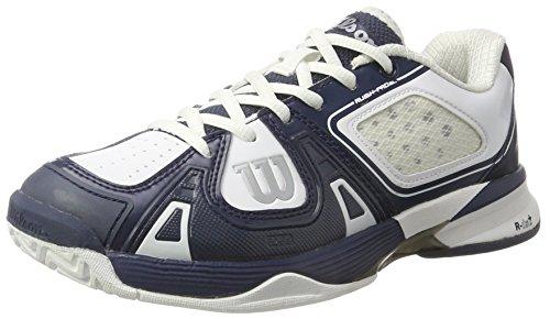 Wilson Rush Pro Sl Ac, Scarpe da Tennis Unisex-Adulto Multicolore (Midnight Navy/White/White)