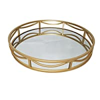 Slate & Rose Display Tray, Metal, Gold, Diameter 39.5cm x Height 5.5cm