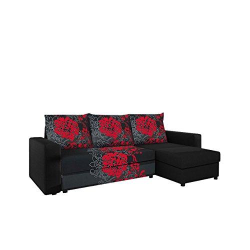 Mirjan24  Ecksofa Top Lux! Sofa Eckcouch Couch! mit Schlaffunktion und Zwei Bettkasten! Ottomane Universal, L-Form Couch Schlafsofa Bettsofa Farbauswahl