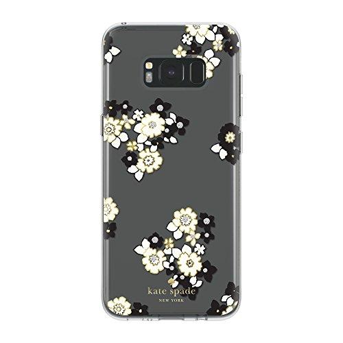 kate-spade-new-york-coque-dure-pour-le-samsung-galaxy-s8-plus-transparent-fleurs-creme-noir-or-avec-
