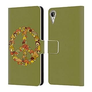 Head Case Designs Offizielle Steven Rhodes Pilz Psychedelisch Brieftasche Handyhülle aus Leder für HTC Desire 10 Lifestyle
