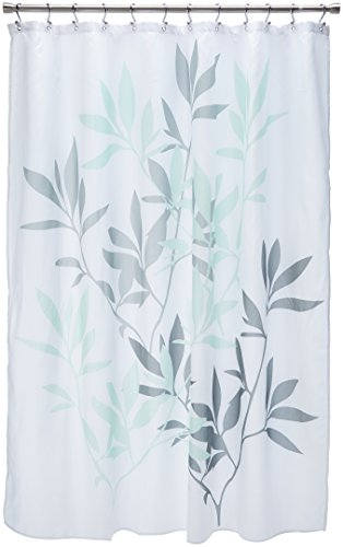 InterDesign Leaves Cortina de ducha | Cortina de baño de diseño de tamaño...