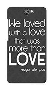 KnapCase Love Quote Designer 3D Printed Case Cover For HTC One A9