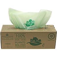 luxtons biodegradables trazadores de líneas de – 6litros/10 litros de alimentos para cocina Degradable de la basura trazadores de líneas de EN 13432 - bolsas de basura - con todos los-verde guía (10L)