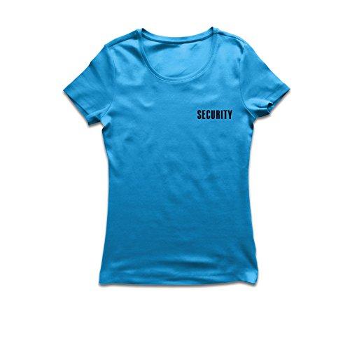 Maglietta Donna Security - Equipaggiamento del responsabile della sicurezza, abbigliamento per la guardia, indumenti da lavoro Azzulo Nero