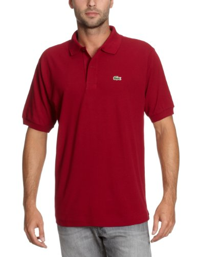 Lacoste Herren Regular Fit Poloshirt L1212, Bordeaux (BORDEAUX 476), XL (Herstellergröße: 6) (Mini Piqué-polo-shirt)