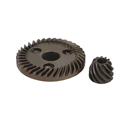 sourcingmap 46mm Ring Zahnrad Dmr. elektrisch Winkelschleifer Spiralkegel Set Grau Reparatur DE de (Kegelradgetriebe-schleifer)