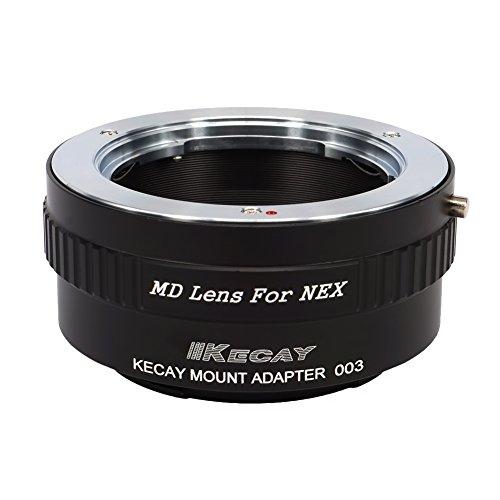 KECAY Adattatore di Montaggio Lente: Anello Adattatore per Obiettivi Minolta MD MC su Corpo Fotocamera Sony NEX E-Mount NEX-3 NEX-3C NEX-5 NEX-5C NEX-5N NEX-5R NEX-6 NEX-7 NEX-F3 NEX-VG10 VG20 MD-NEX