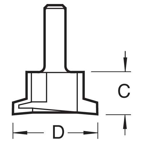 Trend - Schubladenschloss - 10/30X1/2TC
