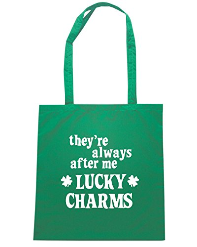 T-Shirtshock - Borsa Shopping TIR0152 me lucky charms dark tshirt Verde