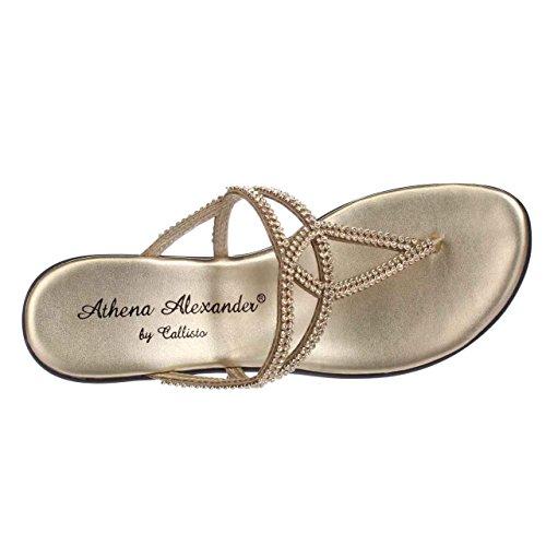 Athena Alexander Twist, Sandali donna oro Gold Gold