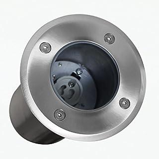 Bodeneinbaustrahler Bodenlampe Bodenstrahler Bodenspot Einbauleuchte Rahmen inkl. GU10-Fassung RUND Durchschleifbar