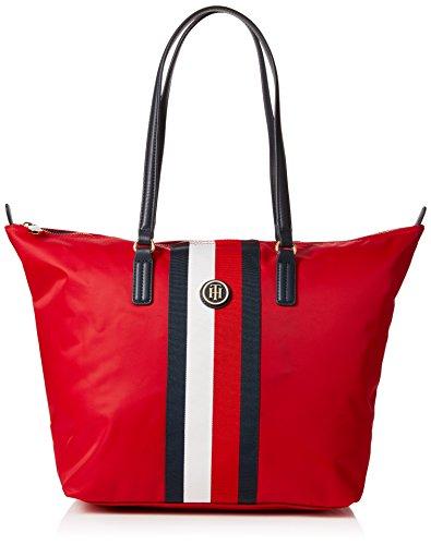 Tommy Hilfiger Damen Poppy Tote Corp Stripe, Rot (Red/Core Stripe), 14x32x47 cm
