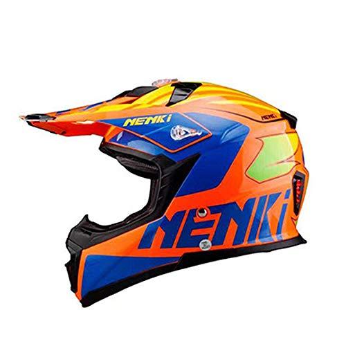 AEMAX, Profi, Motocross Helm, Fiberglas, Super Clear Material, Adventure, Ausdauerhelm, Sonnenblende, Größe M-XL,A-XXL=63-64cm