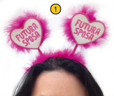 Diadema corazones Futura Novia Despedida de Soltera Gadget idea regalo Broma para boda