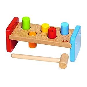 Goki Goki-58581 Puzzles de maderaPuzzles de maderaGOKIBanco de Martillo, Basic, (Gollnest & Kiesel 58581.0)