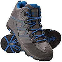 Mountain Warehouse Oscar Kids Walking Boots - Durable Childrens Hiking Shoes, Breathable Girls & Boys Footwear, Suede, Synthetic & Mesh Upper - for Camping & Trekking