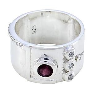 gute Edelsteine faincy facettierten Granat-Ring – massiv Silber roter Granat guter Edelstein-Ring – Faishon Schmuck meistverkaufte Artikel Geschenk für Lehrer Tag personalisierte Geschenk