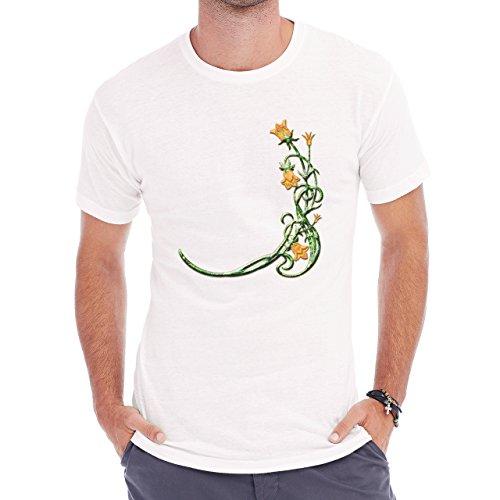 Flowers Nature Blossom Plant Yellow Green Herren T-Shirt Weiß