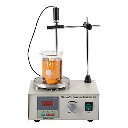 HUKOER Digitaler Magnetrührer Kompakter Labormischer mit Heizplatte 1000ML (85-2)
