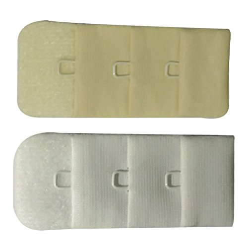 Bralux Bra Hook Extender White & Skin 1x3 Set of 2  available at amazon for Rs.150