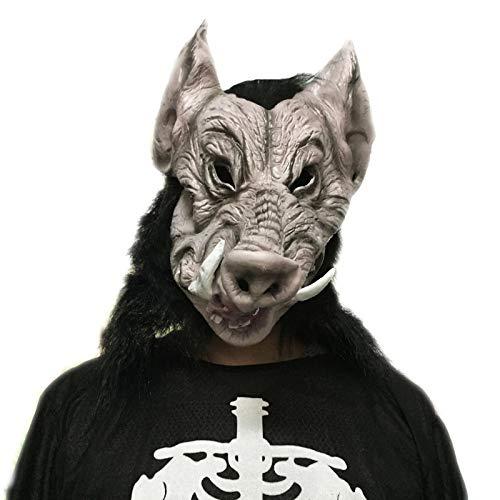 VAWAA Wildschwein Monster Maske Horror Halloween Hollywood Film Qualität Umwelt Latex Erwachsene Größe Party Haarmaske Für Frauen Männer