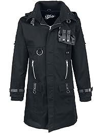 Vixxsin exclusion Coat Mens New Black Goth Punk Emo Men Warm Winter Zip Strap