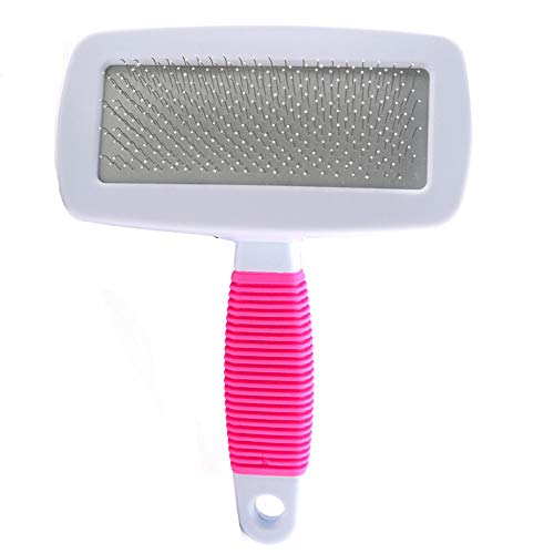 Fliyeong Hundesalon Slicker Brush Pet Pin Kamm-Bürsten-Massage-Werkzeug Pet Hair Brush Pin Fellpflege Trimmer Kamm-Werkzeug für Hund und Katze -