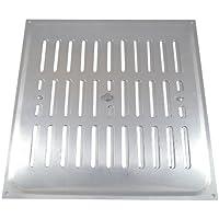 Bulk Hardware - Rejilla de ventilación con apertura regulable (aluminio, 229 x 229 mm