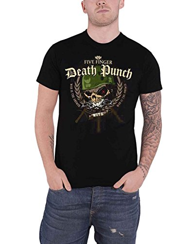 Five Finger Death Punch T Shirt War Head Band Logo Nue offiziell Herren -