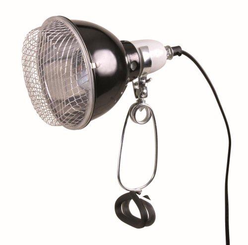 Trixie 76070 Reflektor-Klemmleuchte mit Schutzgitter, 14 x 17 cm